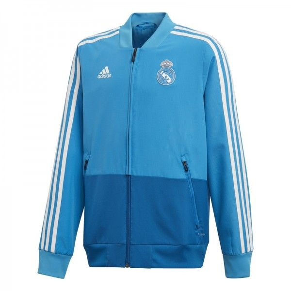 05356067b52ab ADIDAS CHAQUETA PRESENTACIÓN REAL MADRID REAL CRAFT BLUE DARK ROYAL CORE  WHITE DZ9318
