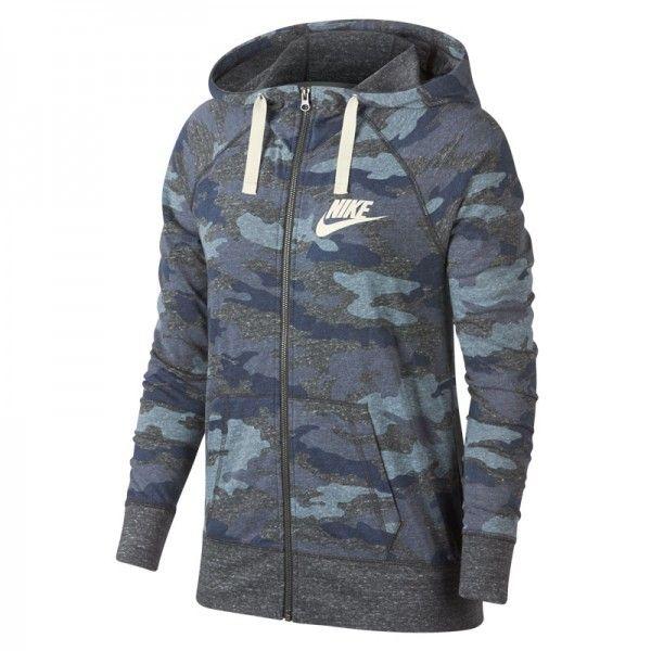 estoy enfermo Viaje anunciar  Nike Sudadera W GYM VINTAGE NSW ICE BLUE/GREY/WHITE AO9174-491